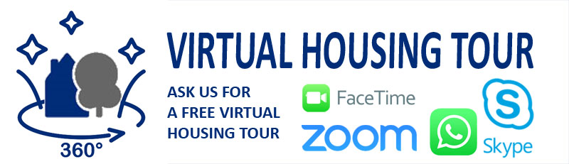 Housing tour with Skype Zoom Facetime Whatsapp