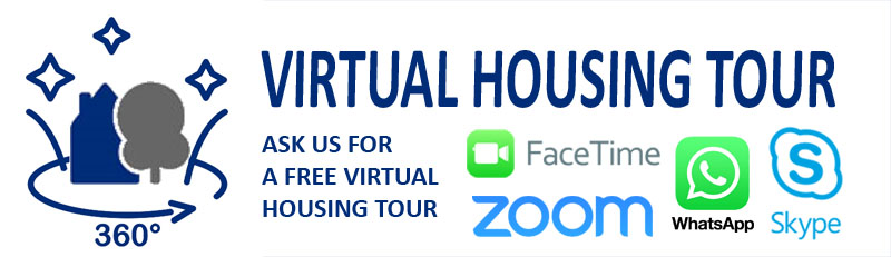 Vitrual housing tour with whatsapp zoom skype or facetime